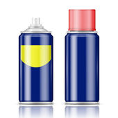Blue spray can with red cap. — Stock Vector