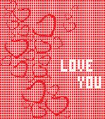 Liebe dich mit herz — Stockfoto