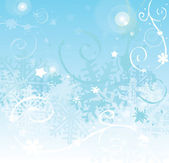 Winter background with snowflake — Stok fotoğraf