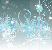 Winter background with snowflake — Stockfoto