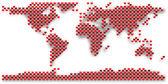 Mapa mundial de corazón — Foto de Stock
