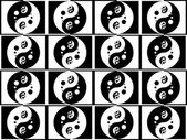 Jing jang pattern — Stock Photo