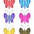 set of colorful butterflies — Stock Photo