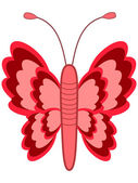Red butterfly — Stock Vector