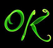 Ok green — Stock Photo