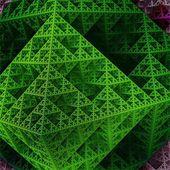 Part of sierpinski octahedron  — Stock Photo