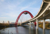Red bridge. Moscow — Stock Photo