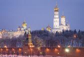 Nacht moskou. het kremlin — Stockfoto