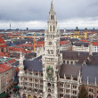 Munich, Germany, Bavaria, the view from the top — Stock Photo