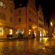 Rothenburg Ob der Tauber Christmas night — Stock Photo