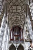 Organ in St. Pauls Church, Dinkensbuhl. Bavaria, Germany — Stock Photo