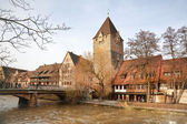 Nuremberg. The urban landscape with the river Pegnitz — Stock Photo