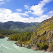 Stock Photo: Altai. Siberia. River Katun. Russia