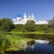 Orthodoxy monastery at Bogolyubovo in summer day. Russia — Foto de Stock