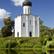 Church of the Intercession on the river Nerl — Stock Photo #41257711