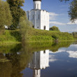Church of Intercession on river Nerl — Stock Photo #41258289