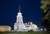 Assumption cathedral at Vladimir at night (Russia) — Stock Photo