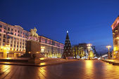 Night new year Moscow. Russia — Stock Photo