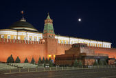 Moscow,the Kremlin, the Red square at night. Russia — Stock Photo