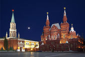 Moscow, the Red square at night. Russia — Stock Photo