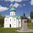 Spaso-Preobrazhensky Cathedral and the monument to Alexander Nevsky. Pereslavl-Zalessky. Russia — Stock Photo