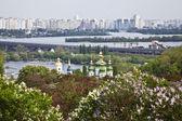 The panorama of Kiev and Vydubitskiy monastery . Ukraine — Stock Photo