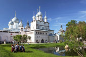 Rostov The Great. Holiday in Rostov Kremlin, dedicated to Russian culture — Zdjęcie stockowe