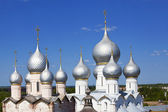 Silver domes in Rostov Kremlin, Russia — Stock Photo
