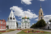 The ensemble of the buildings of the Cathedral square in Kolomna Kremlin. Kolomna. Russia — Stock Photo