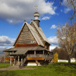 Постер, плакат: The wooden Church of St Nicholas and Suzdal Kremlin