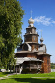 The wooden church of Transfiguration in Suzdal museum, Russia — Stockfoto