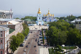 A top view of the Mikhailovsky monastery. Kiev — Stock Photo