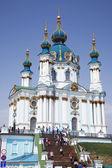 андреевская церковь в киеве. украина — Стоковое фото