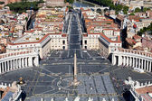 Saint Peter's square at the Vatican — Stock Photo