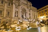 The famous Trevi Fountain at night — Stock Photo