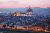 Santa Maria del Fiore,  Florence at sunset — Stock Photo