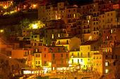 Nacht manarola. italien — Stockfoto