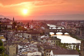 Panorama of Florence at sunset. Italy — Stock Photo