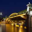 Andreevsky bridge in Moscow at night — Stock Photo