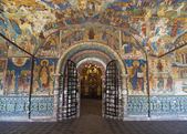 The frescoes in the Church of Elijah the Prophet in Yaroslavl — Stock Photo