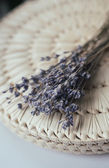 Lavender bunch on thach background — Foto de Stock