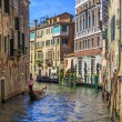 Canals of Venice Gondolier — Stock Photo #24014585