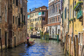 Canals of Venice Gondolier — Stock Photo