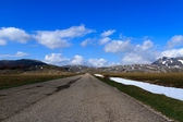 The road of Campo Imperatore — Stock Photo