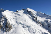 Mont Blanc top view zoomed out — Stock Photo