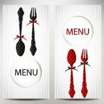 Restaurant menu design Vector illustration — Stock Vector #23575661