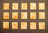 Crackers background — Stockfoto
