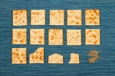 Bitten Crackers background — Stock Photo