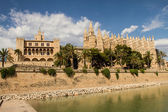 Palais de la almudaina et de la cathédrale de la seu — Photo