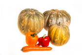 Pumpkins and other vegetables — Stock Photo